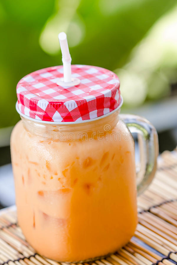Ταϊλανδικό τσάι πάγου γάλακτος στοκ εικόνα