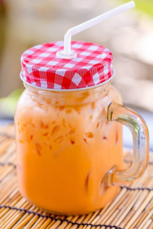 Ταϊλανδικό τσάι πάγου γάλακτος στοκ φωτογραφία με δικαίωμα ελεύθερης χρήσης