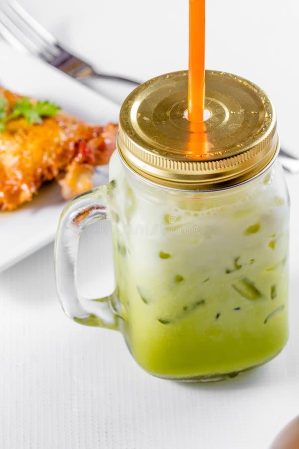 Ταϊλανδικό τσάι πάγου γάλακτος στοκ φωτογραφία
