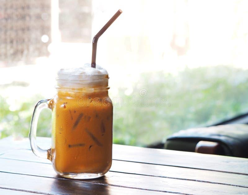 Ταϊλανδικό τσάι πάγου με το γάλα στοκ φωτογραφίες με δικαίωμα ελεύθερης χρήσης