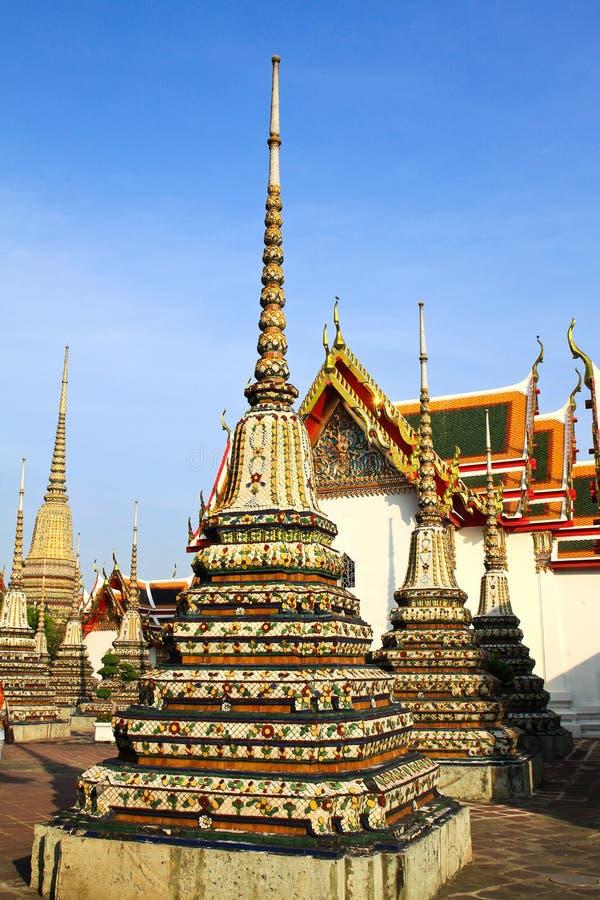 ταϊλανδικό wat pho αρχιτεκτονικής αυθεντικό στοκ εικόνες με δικαίωμα ελεύθερης χρήσης