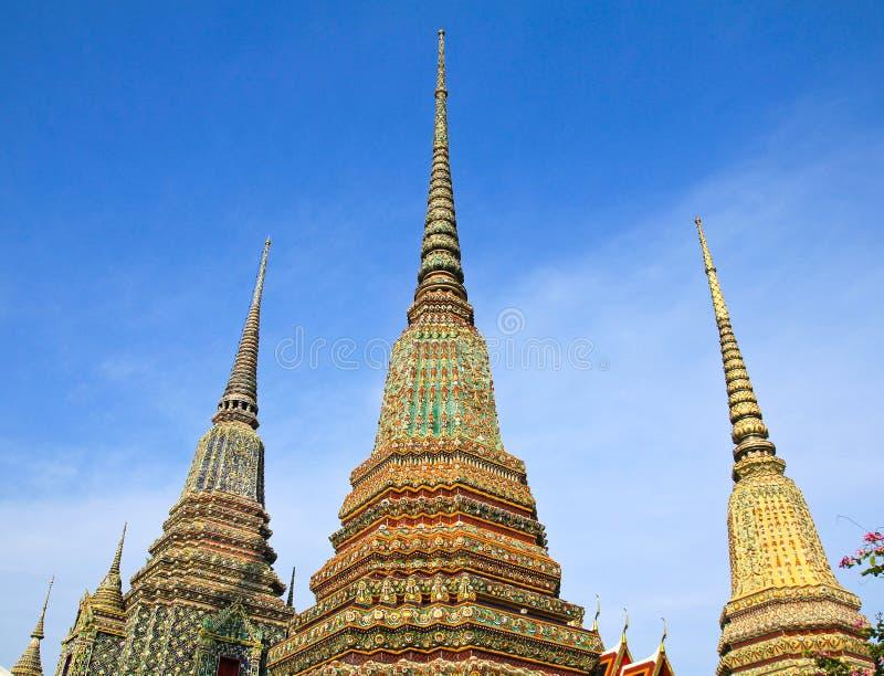 ταϊλανδικό wat pho αρχιτεκτονικής αυθεντικό στοκ εικόνες