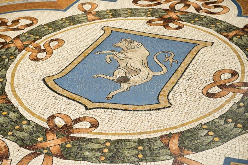 Ταύρος Torinos στο Galleria Vittorio Emanuele στοκ φωτογραφία με δικαίωμα ελεύθερης χρήσης