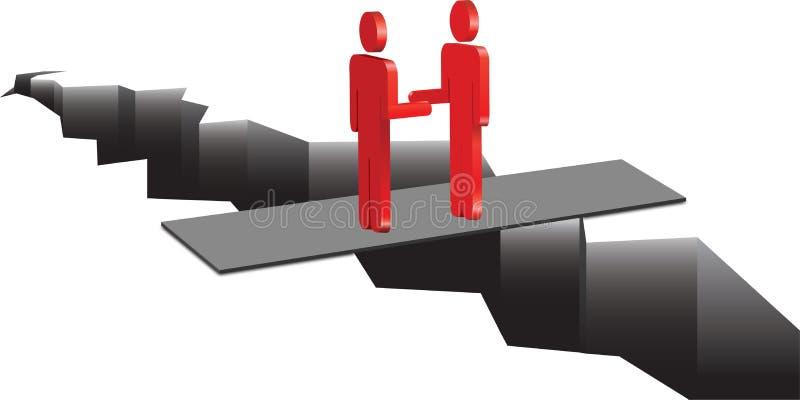 Τα άτομα κάνουν μια διαπραγμάτευση διανυσματική απεικόνιση