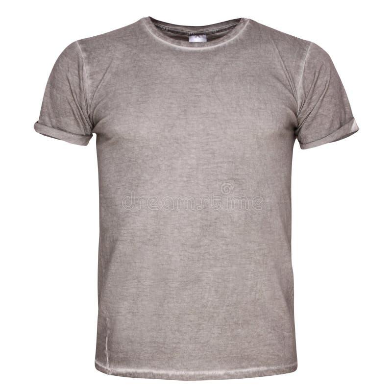 Τα άτομα κόβουν την μπλούζα που απομονώνεται στο άσπρο υπόβαθρο στοκ εικόνα