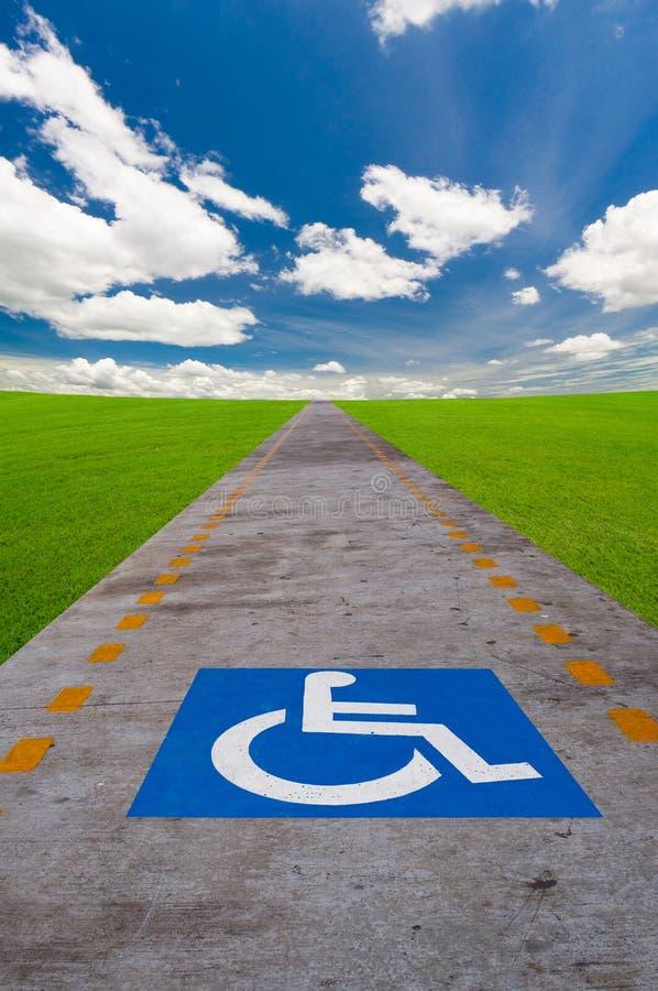 Τα άτομα με ειδικές ανάγκες υπογράφουν το χαρτόνι στοκ εικόνα με δικαίωμα ελεύθερης χρήσης