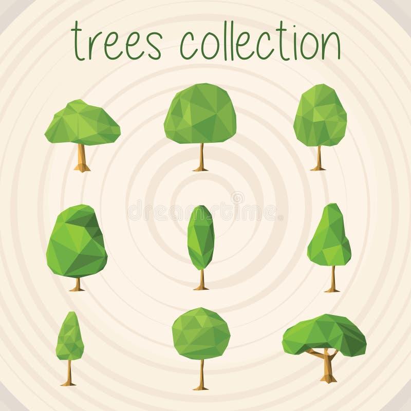 Τα δέντρα χρωματίζουν τη διανυσματική επιλογή διανυσματική απεικόνιση