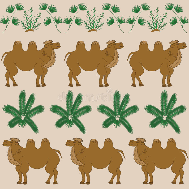 Τα αγαπημένα τρόφιμα της καμήλας είναι το καμήλα-αγκάθι και άλλες εγκαταστάσεις ερήμων ελεύθερη απεικόνιση δικαιώματος