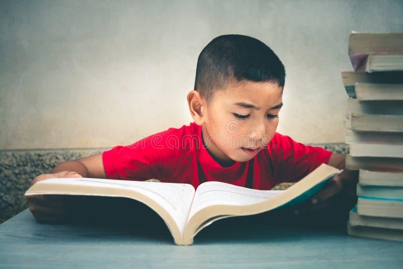 Τα αγόρια πρόκειται να διαβάσουν τα βιβλία για να αποκτήσουν περισσότερη γνώση στοκ φωτογραφία με δικαίωμα ελεύθερης χρήσης