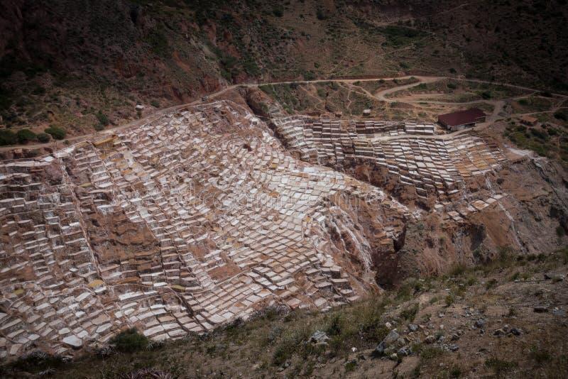 Τα αλατισμένα ορυχεία maras στοκ φωτογραφία με δικαίωμα ελεύθερης χρήσης