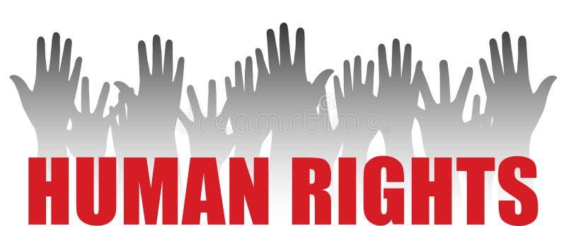 τα ανθρώπινα δικαιώματα διανυσματική απεικόνιση