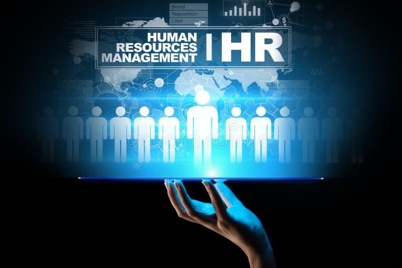 Τα ανθρώπινα δυναμικά, διαχείριση ωρ., πρόσληψη, ταλέντο θέλησαν, επιχειρησιακή έννοια απασχόλησης διανυσματική απεικόνιση