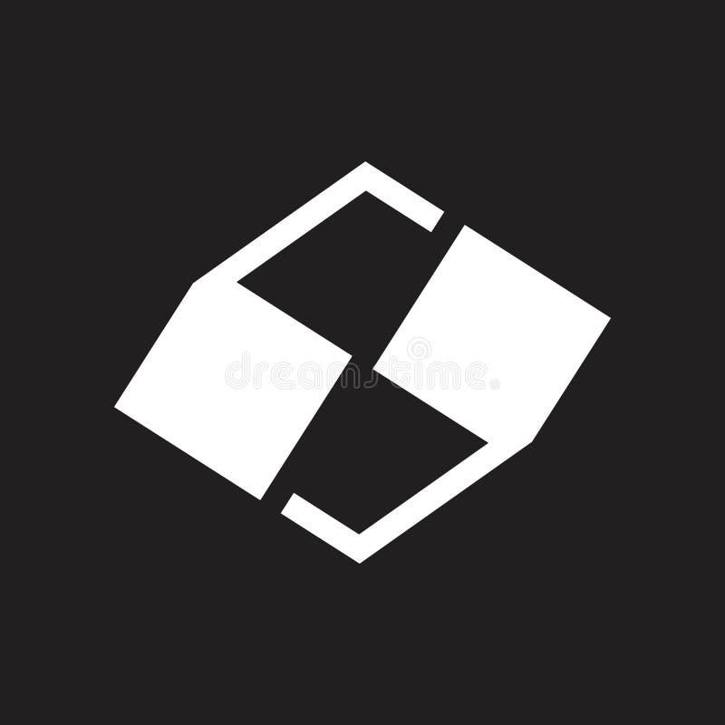 Τα αποσπάσματα γραμμάτων s χαρακτηρίζουν το διάνυσμα λογότυπων γεωμετρικού σχεδίου ελεύθερη απεικόνιση δικαιώματος