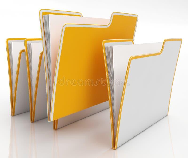 Τα αρχεία παρουσιάζουν την οργάνωση και γραφική εργασία ελεύθερη απεικόνιση δικαιώματος