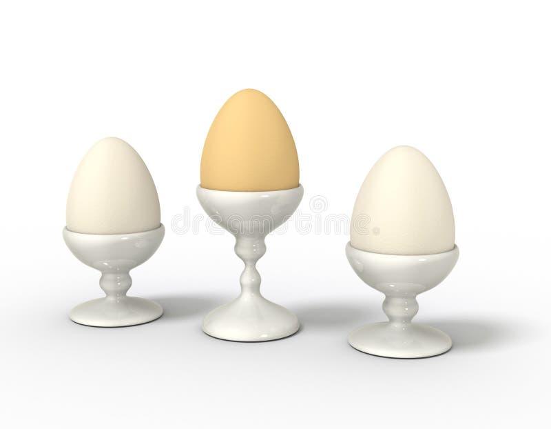 τα αυγά αυγών φλυτζανιών &epsil απεικόνιση αποθεμάτων