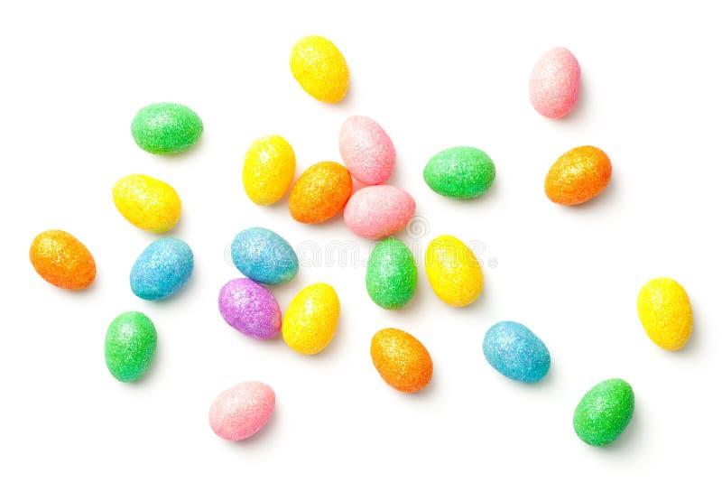 τα αυγά Πάσχας ανασκόπησης απομόνωσαν το λευκό στοκ φωτογραφίες με δικαίωμα ελεύθερης χρήσης