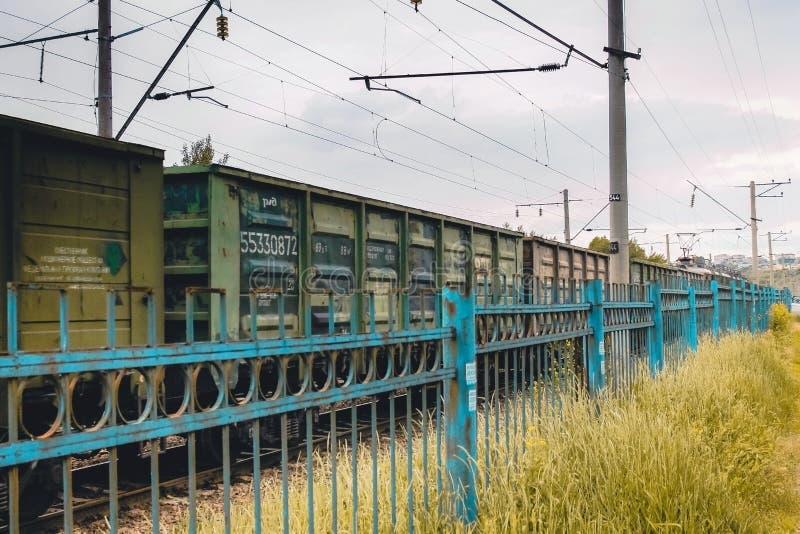 Τα αυτοκίνητα του τραίνου Σιδηρόδρομος στοκ εικόνες με δικαίωμα ελεύθερης χρήσης