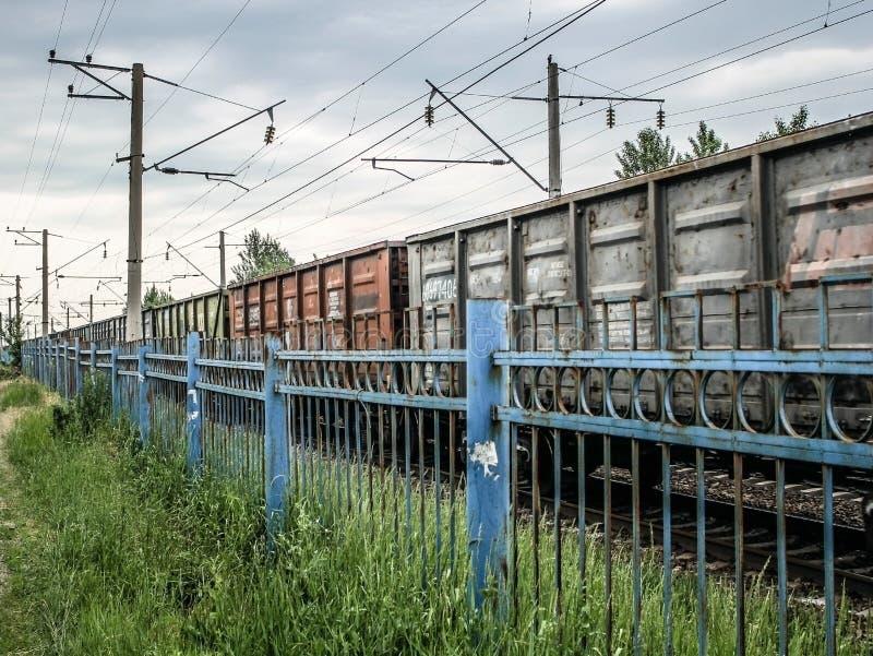 Τα αυτοκίνητα του τραίνου Σιδηρόδρομος στοκ εικόνα