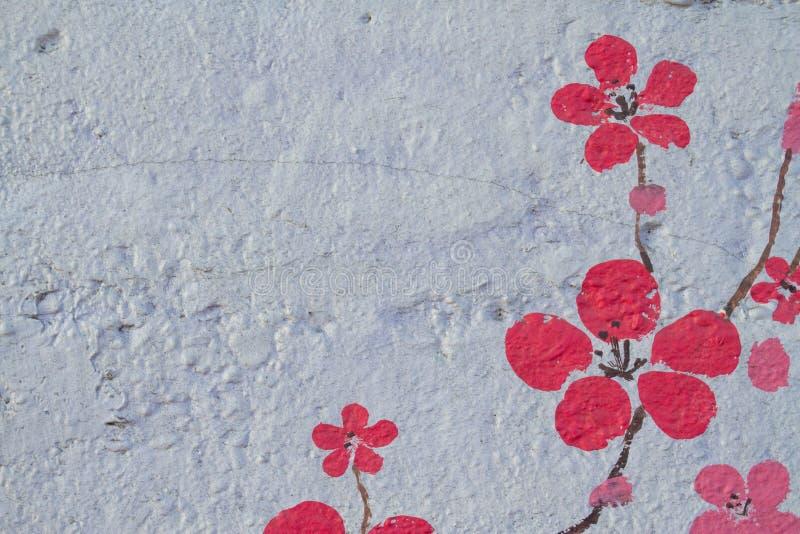 Τα αφηρημένα άνθη κερασιών ανθίζουν την άνοιξη στοκ εικόνα