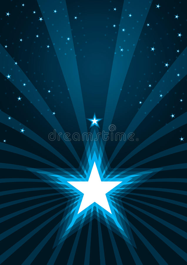 Τα αφηρημένα αστέρια λάμπουν Spray_eps διανυσματική απεικόνιση