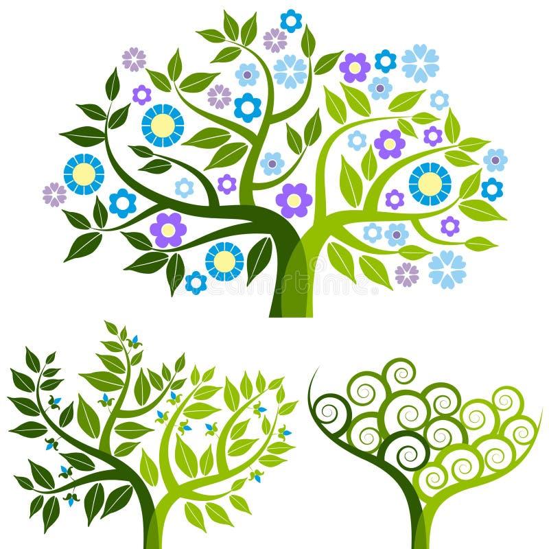 τα αφηρημένα λουλούδια π&omi ελεύθερη απεικόνιση δικαιώματος