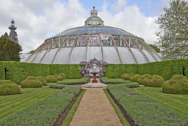 Τα βασιλικά θερμοκήπια Laeken, Βρυξέλλες, Βέλγιο στοκ φωτογραφίες