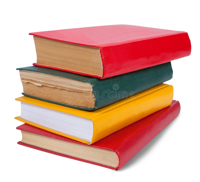 τα βιβλία απομόνωσαν το λ&eps στοκ εικόνα με δικαίωμα ελεύθερης χρήσης