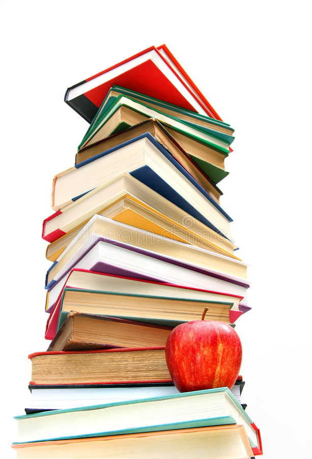 τα βιβλία απομόνωσαν το μ&epsilon στοκ φωτογραφία