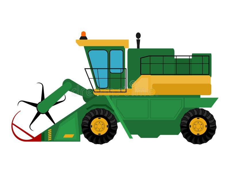 Τα βιομηχανικά μηχανήματα αγροτικού εξοπλισμού γεωργίας συνδυάζουν τη διανυσματική απεικόνιση εκσκαφέων διανυσματική απεικόνιση