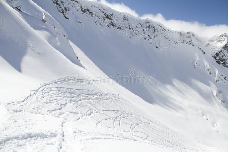 Τα βουνά σε Krasnaya Polyana, Ρωσία στοκ εικόνες με δικαίωμα ελεύθερης χρήσης