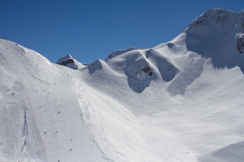 Τα βουνά σε Krasnaya Polyana, Ρωσία στοκ εικόνα με δικαίωμα ελεύθερης χρήσης