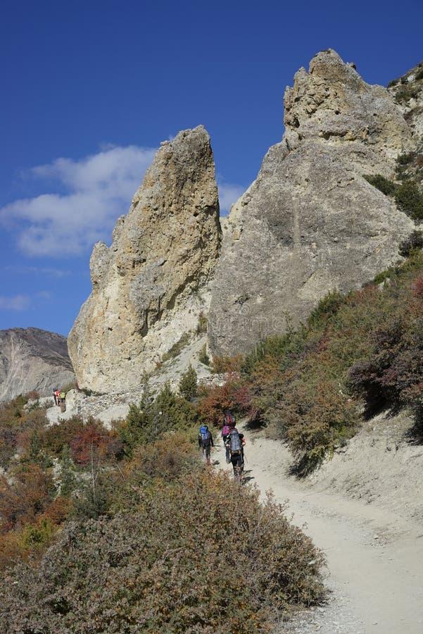 Τα βουνά στο κύκλωμα Annapurana στοκ εικόνες με δικαίωμα ελεύθερης χρήσης