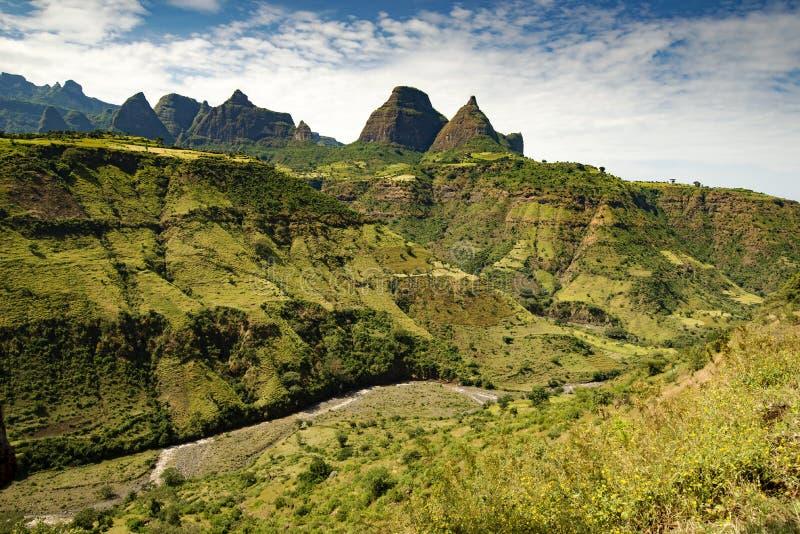 Τα βουνά Simien, Αιθιοπία στοκ φωτογραφία με δικαίωμα ελεύθερης χρήσης
