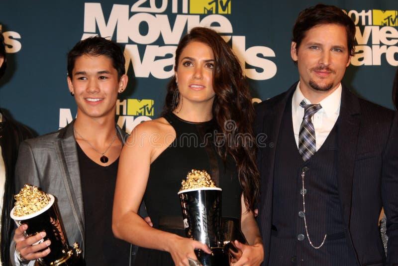 τα βραβεία του 2011 χυτά σκιάζουν το λυκόφως δωματίων Τύπου κινηματογράφων mtv στοκ φωτογραφία με δικαίωμα ελεύθερης χρήσης