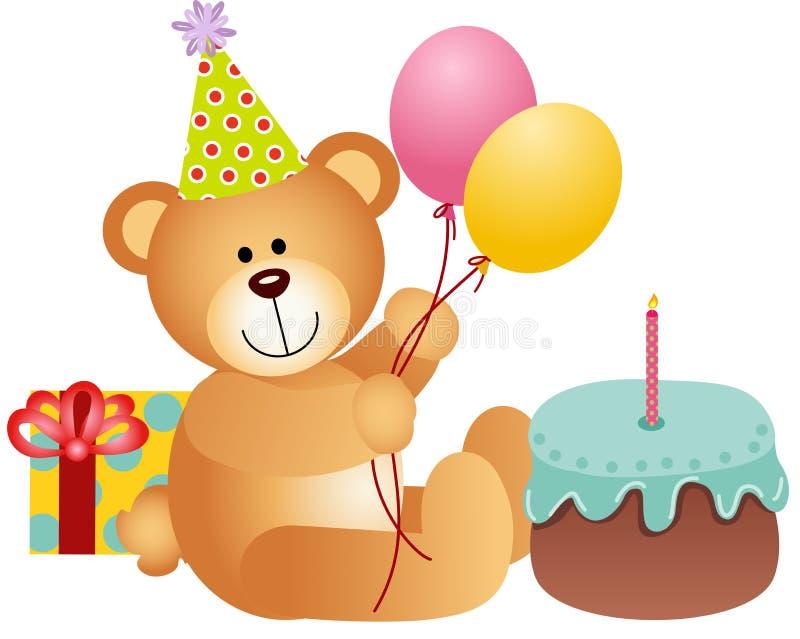Τα γενέθλια Teddy αντέχουν απεικόνιση αποθεμάτων