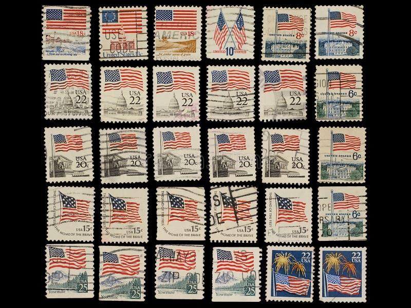 τα γραμματόσημα σημαιών δη&lamb στοκ εικόνα