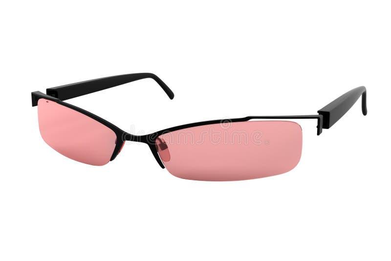 τα γυαλιά απομόνωσαν το ρόδινο λευκό ήλιων στοκ φωτογραφία με δικαίωμα ελεύθερης χρήσης