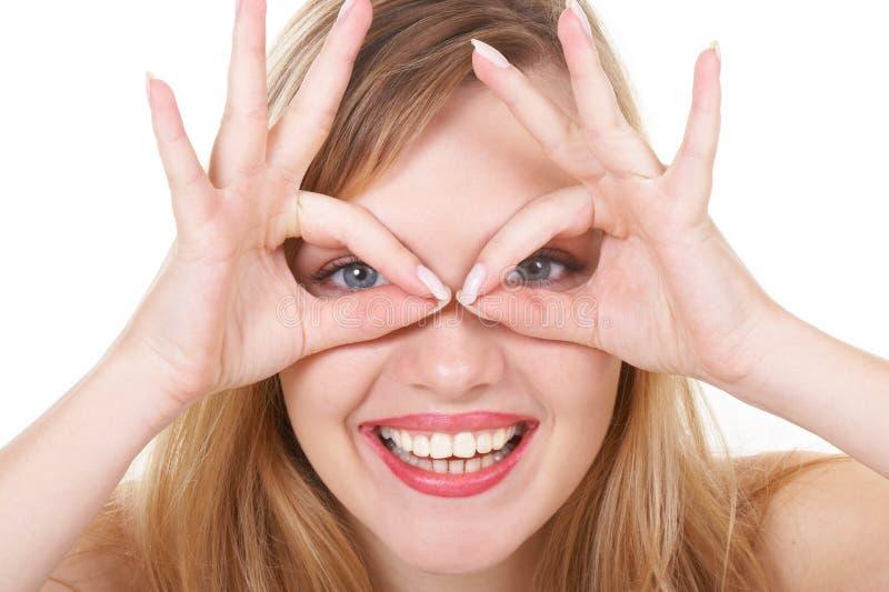 Download τα γυαλιά κοριτσιών αντιπ& στοκ εικόνες. εικόνα από κοίταγμα - 1548160