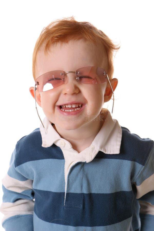 τα γυαλιά redhead αυξήθηκαν χαμ&o στοκ φωτογραφίες