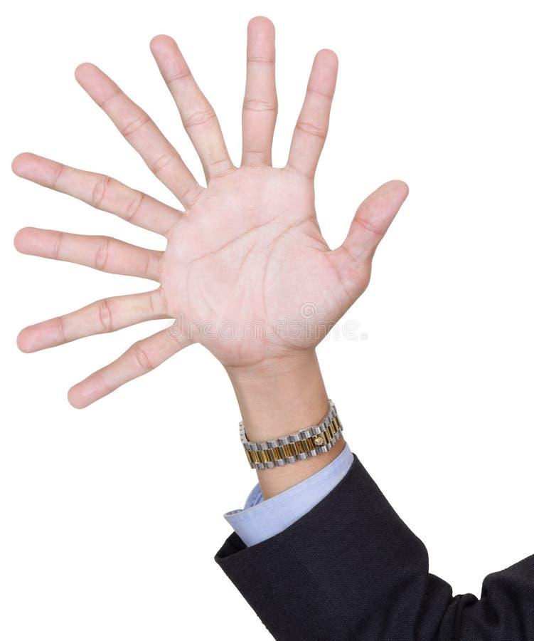 τα δάχτυλα δίνουν σε εννέ&alp στοκ φωτογραφία με δικαίωμα ελεύθερης χρήσης