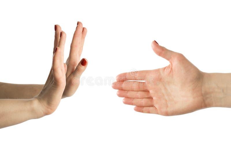 τα δάχτυλα δίνουν στα χέρια κανονικά έξι στοκ εικόνες με δικαίωμα ελεύθερης χρήσης