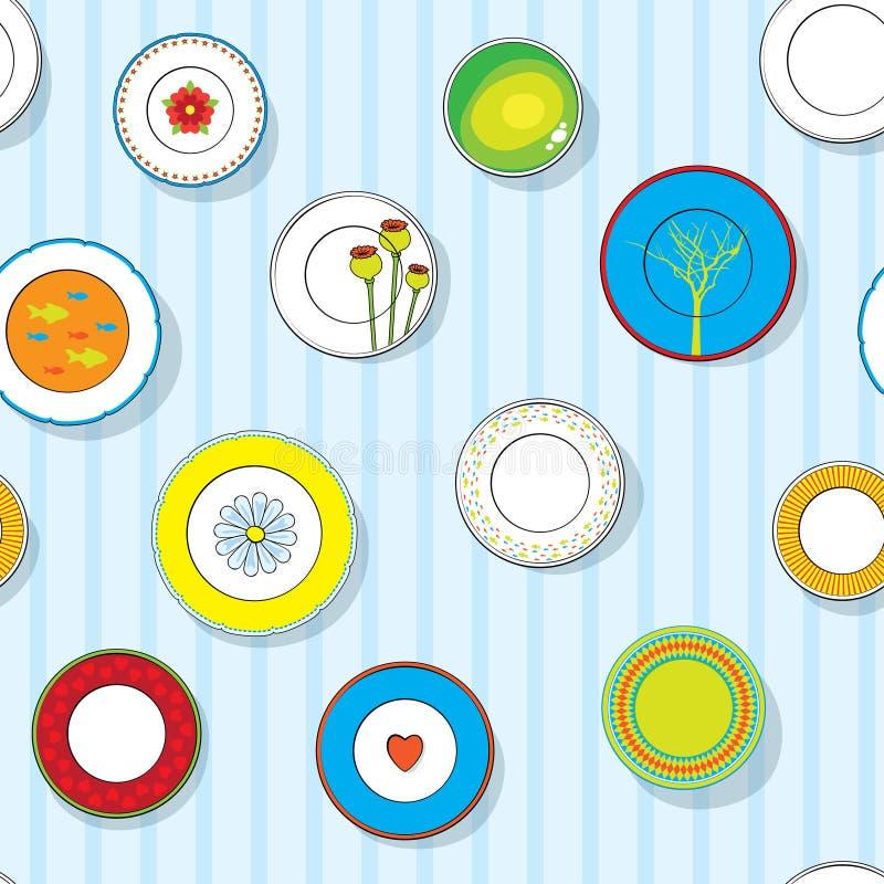 Download τα διακοσμητικά πιάτα που τίθενται τον τοίχο Διανυσματική απεικόνιση - εικονογραφία από kitchenware, dishware: 22794741