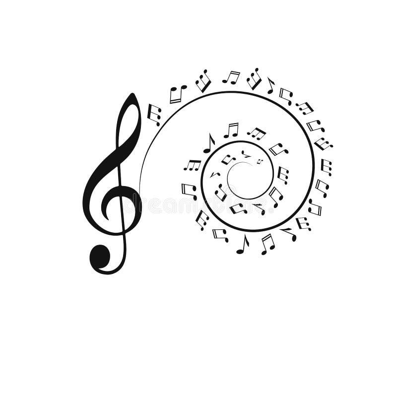 Τα διανυσματικά εικονίδια καθορισμένα τη σημείωση μουσικής απεικόνιση αποθεμάτων