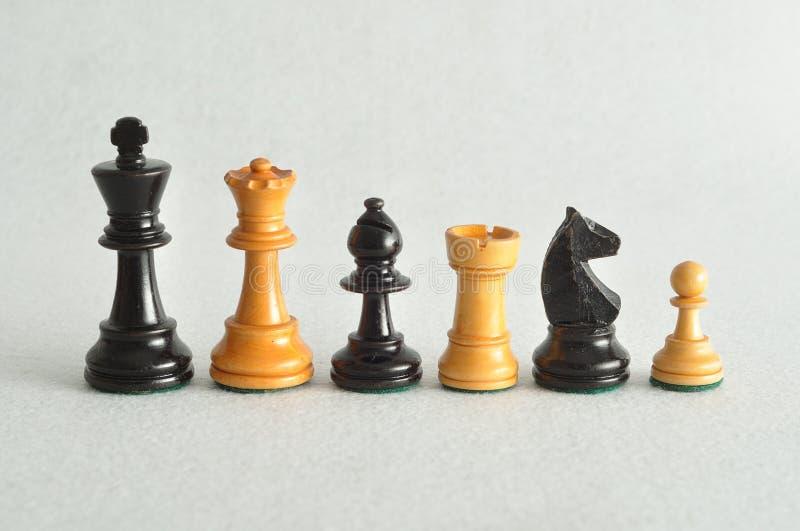 Τα διαφορετικά κομμάτια σκακιού στοκ φωτογραφία