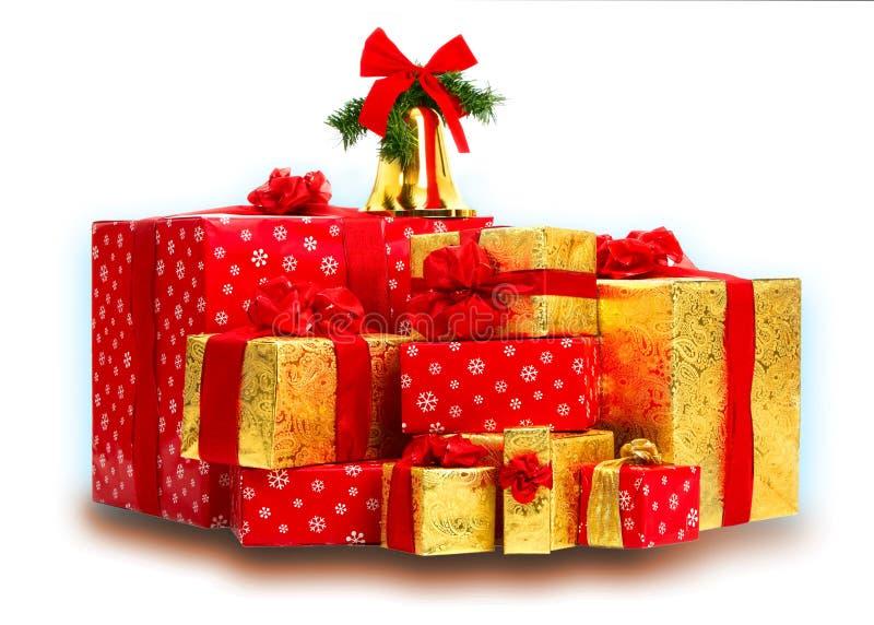 τα δώρα Χριστουγέννων παρ&omicr στοκ φωτογραφίες με δικαίωμα ελεύθερης χρήσης