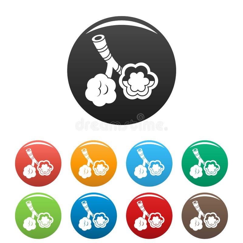 Τα εικονίδια ασθενειών φατνίων καθορισμένα το χρώμα ελεύθερη απεικόνιση δικαιώματος