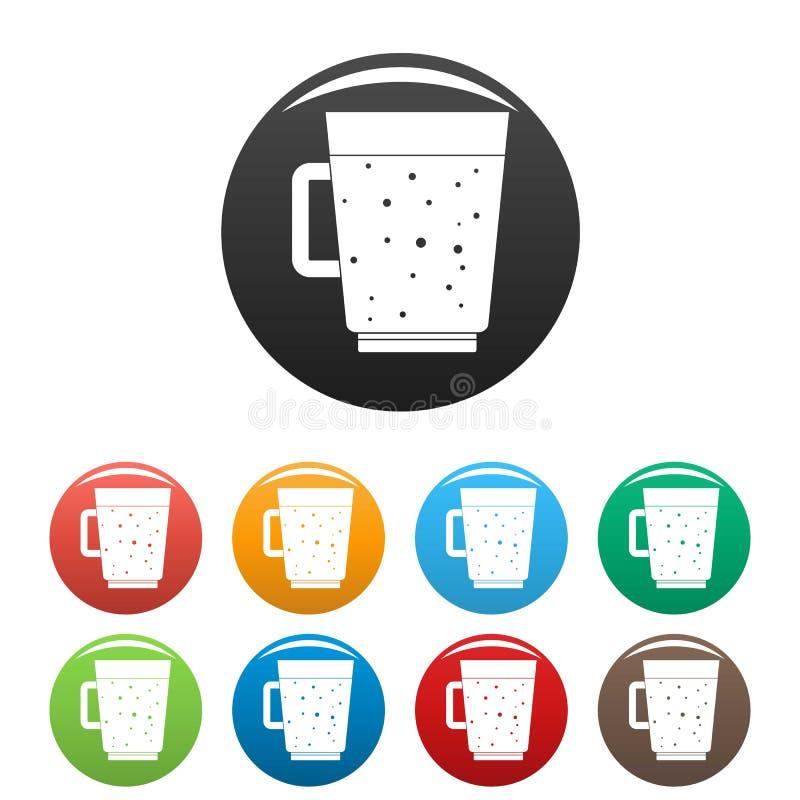 Τα εικονίδια καταφερτζήδων βακκινίων καθορισμένα το χρώμα απεικόνιση αποθεμάτων