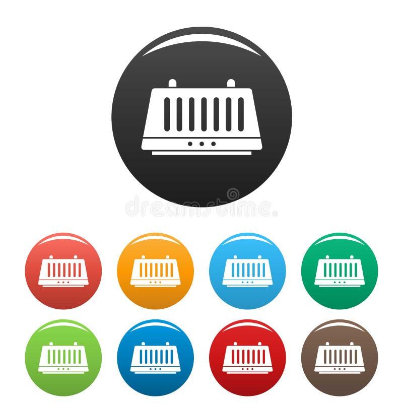 Τα εικονίδια στεγνωτήρων χεριών καθορισμένα το χρώμα ελεύθερη απεικόνιση δικαιώματος