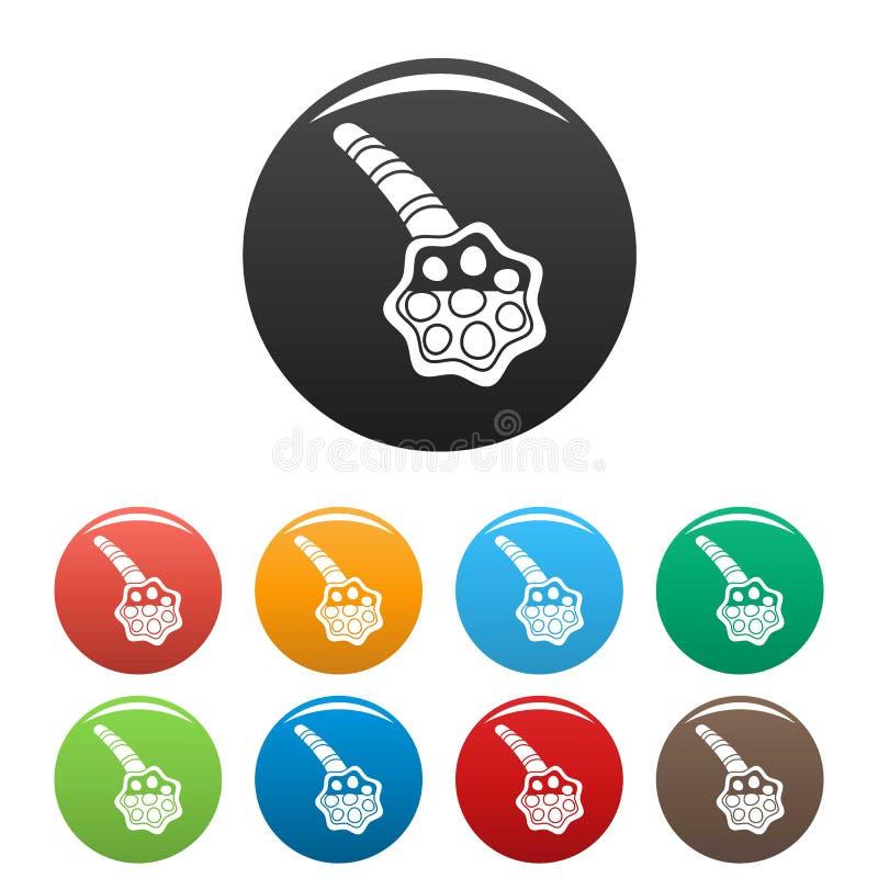 Τα εικονίδια φατνίων πνευμονίας καθορισμένα το χρώμα ελεύθερη απεικόνιση δικαιώματος