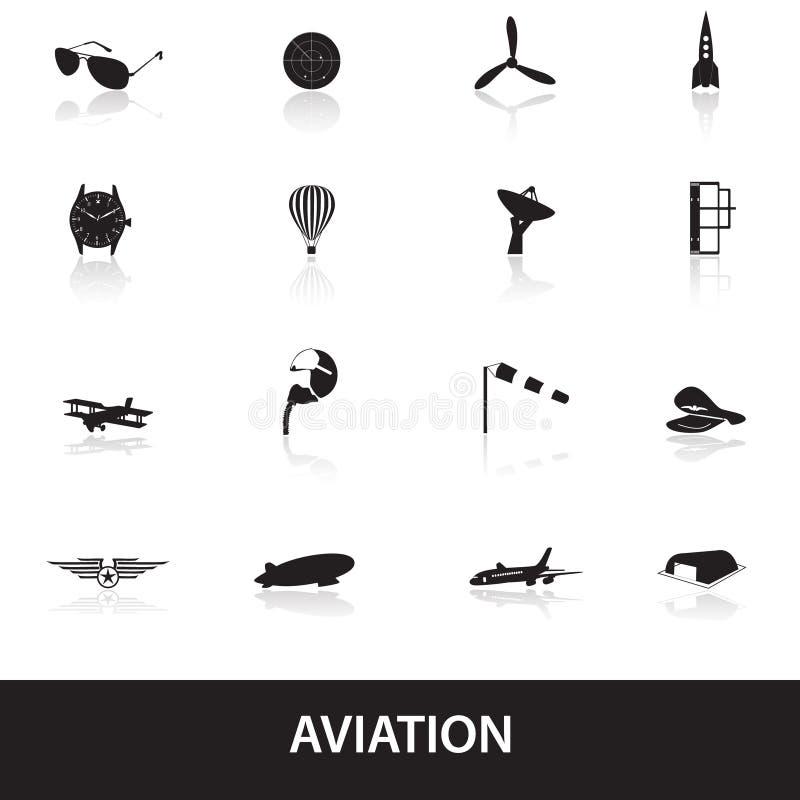 Τα εικονίδια αεροπορίας καθορισμένα eps10 ελεύθερη απεικόνιση δικαιώματος